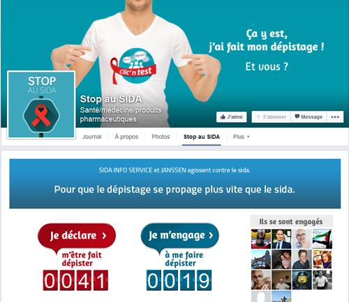 Campagne digitale en faveur du dépistage du Sida par Janssen