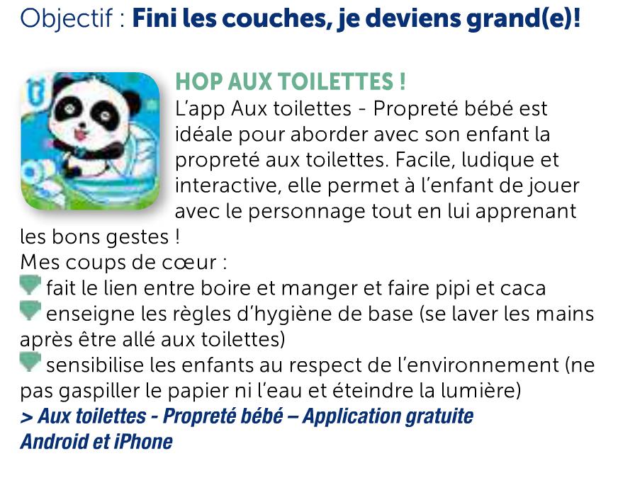 «Aux toilettes», application pour aborder la propreté aux enfants